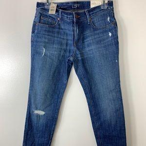 Loft Women's Jeans relaxed skinny new sz 26/2